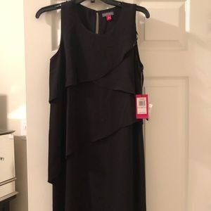 Vince Camuto Black Tiered Dress size 6